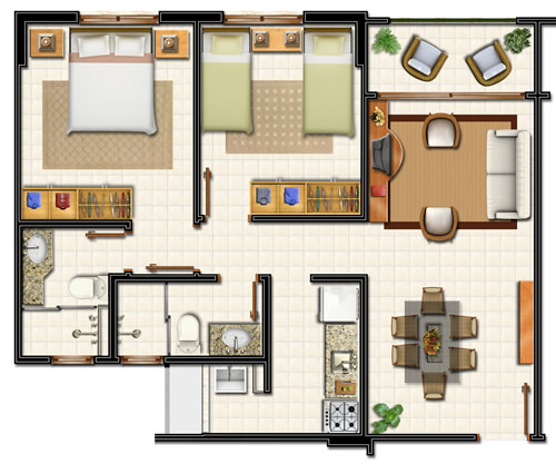Condominium club paradise village alex botelho im veis for Casas en 2d